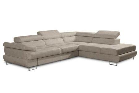 Buton P sarok világosbarna melír szövettel (balos kanapé)