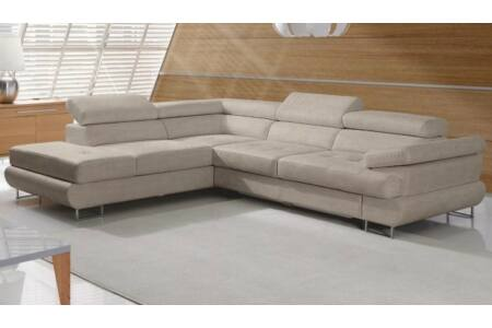 Buton P sarok világosbarna melír szövettel (jobbos kanapé)