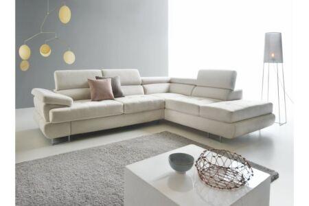 Buton P sarok halványszürke szövettel (balos kanapé)