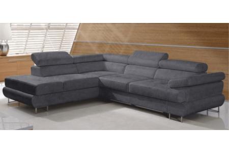 Buton P sarok szürke szövettel (jobbos kanapé)