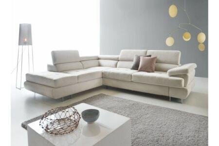 Buton P sarok halványszürke szövettel (jobbos kanapé)