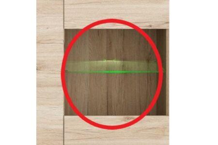 LED világítás Globus fali vitrinhez