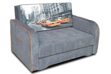 Helena kis kanapé szürke színben, taxi mintával