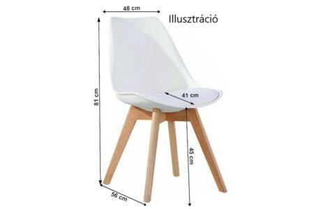 Bali 2 new szék fehér színben