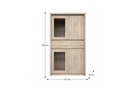 Norty vitrines komód (2D2W1S)