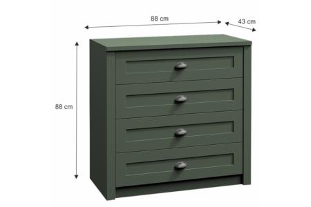 Provance fiókos komód (K4) zöld