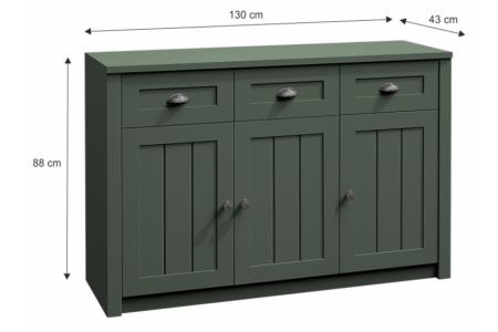 Provance komód (K3SP) zöld