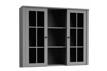 Provance vitrines rátét szekrény (W2D) szürke