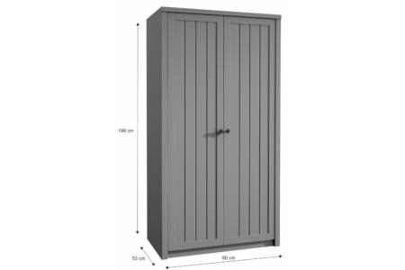 Provance kétajtós szekrény (S2D) szürke