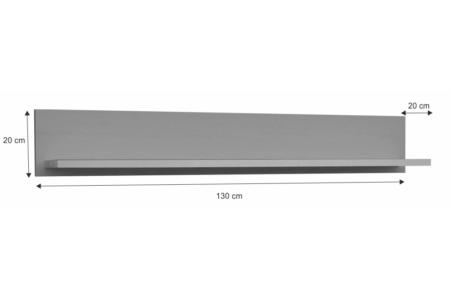 Provance fali polc (P1) szürke