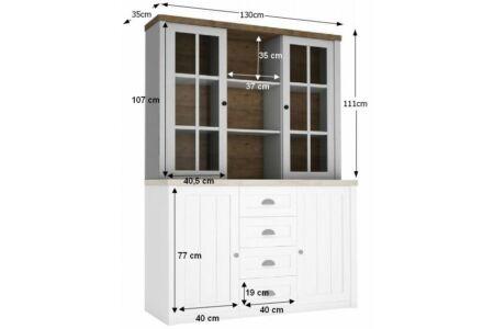 Provance felső vitrines rátét szekrény (W2D) andersen