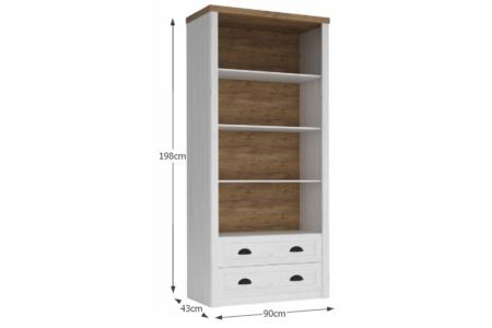 Provance nyitott polcos fiókos szekrény (R2)