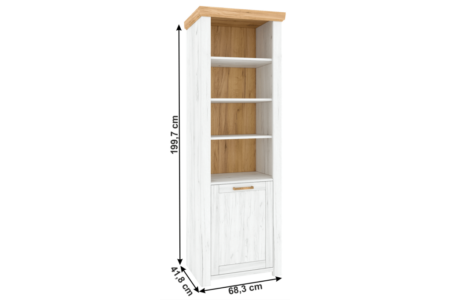 Sudbury nyitott polcos szekrény (R)