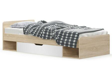 Teyo ágykeret, sonoma tölgy - fehér
