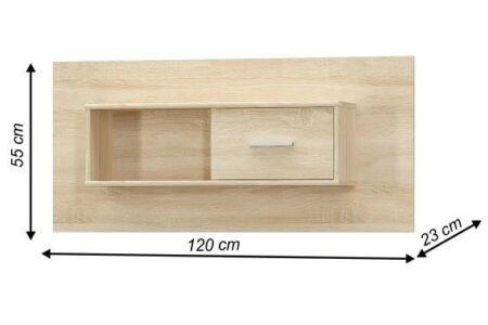 Teyo fali szekrény sonoma tölgy