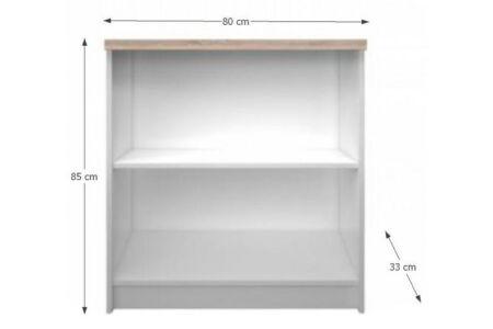 Topty alacsony nyitott polcos tároló