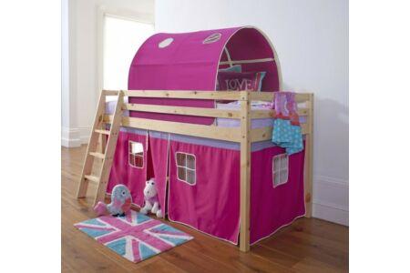 Indigo magasított ágy (rózsaszín)