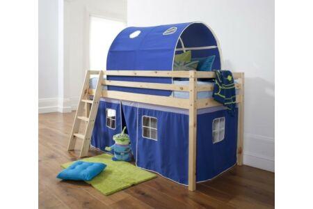 Indigo magasított ágy (kék)