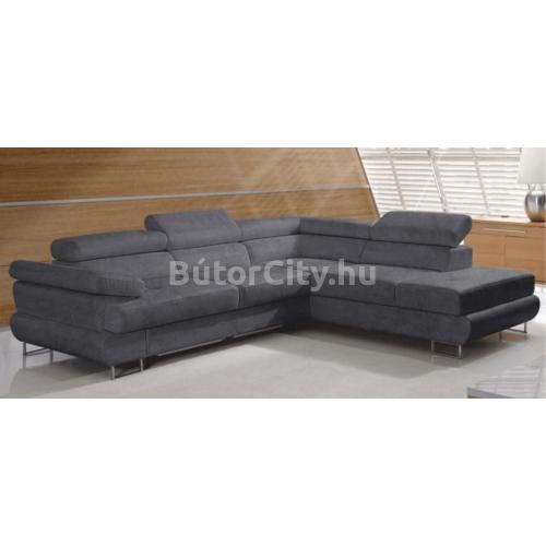 Buton P sarok szürke szövettel (balos kanapé)