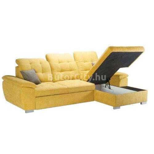 Evangelin sarok sárga szövettel (balos ágyazhatóság)