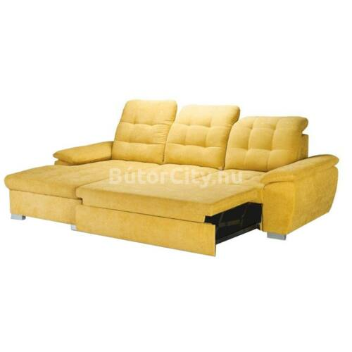 Evangelin sarok sárga szövettel (jobbos ágyazhatóság)