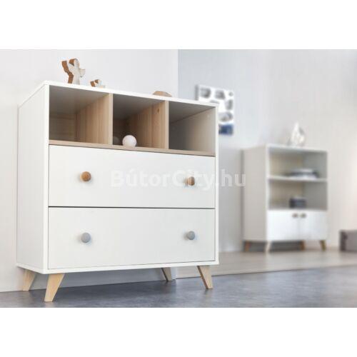 Colette fehér 2 osztású szekrény