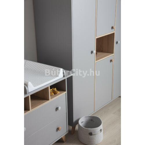 Colette szürke 2 osztású szekrény