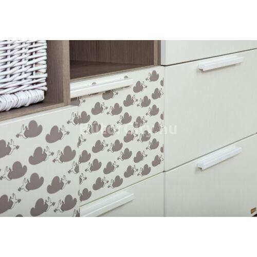 Poppi 1 ajtós, 2 fiókos állószekrény (felhő mintával)