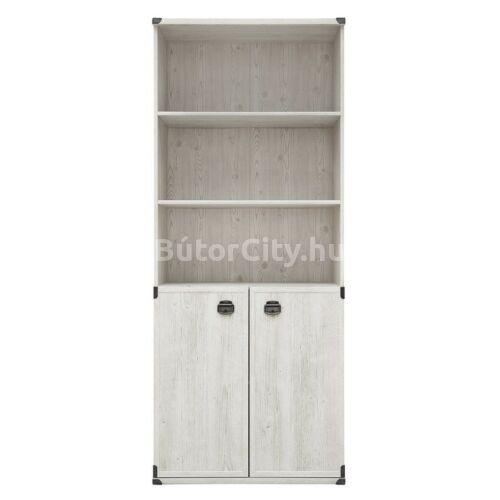 Ines könyves szekrény fehér fenyő színben (JREG2DO)