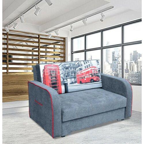 Helena kis kanapé szürke színben, London mintával