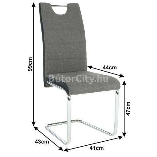 Izma szék, sötétszürke - fekete