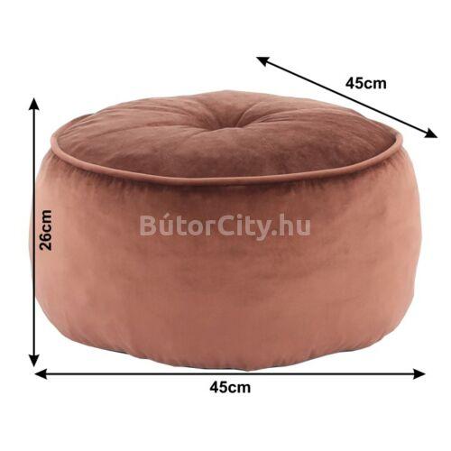 Kerem kör alakú puff, barna színben