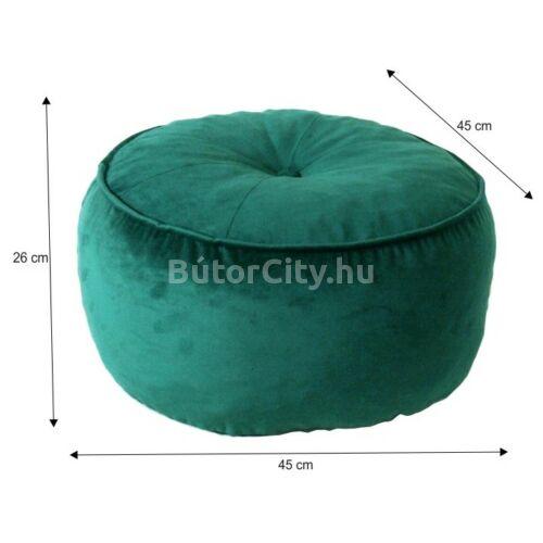 Kerem kör alakú puff, smaragdzöld színben