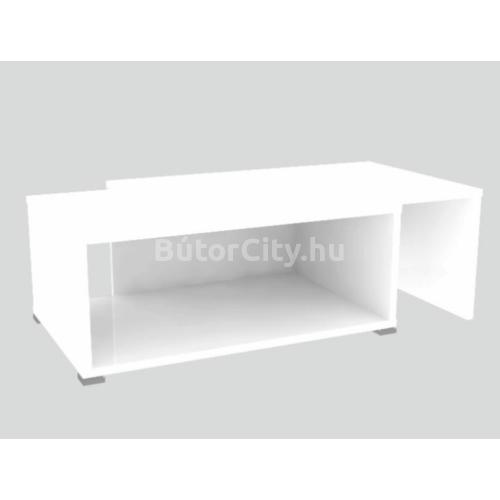 Dron dohányzóasztal fehér színben