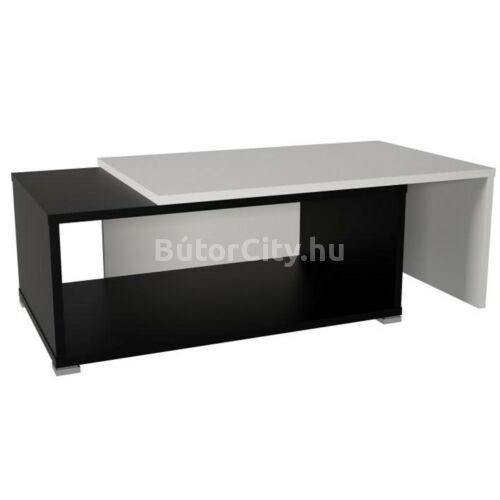 Dron dohányzóasztal fekete-fehér