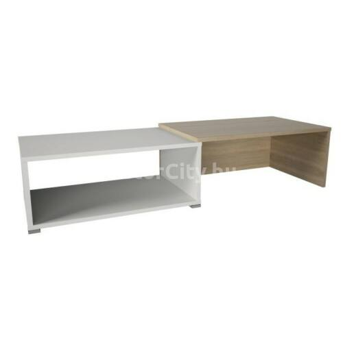 Dron dohányzóasztal sonoma tölgy - fehér