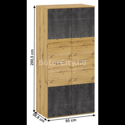 Eridan kétajtós szekrény (Q típus)