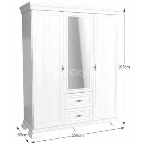 Kora háromajtós szekrény KS2 (andersen)