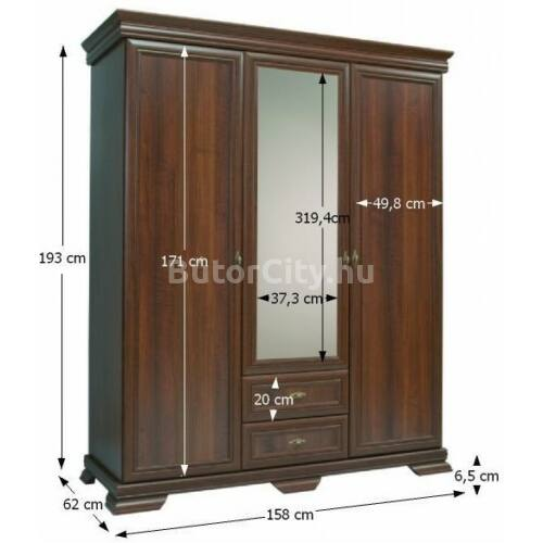 Kora háromajtós szekrény KS2 (samoa king)