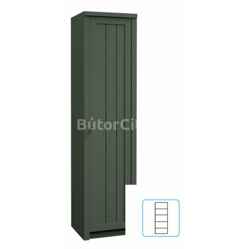 Provance polcos szekrény (S1D) zöld