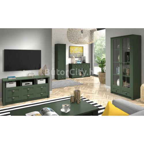 Provance egyajtós vitrin (W1S) zöld