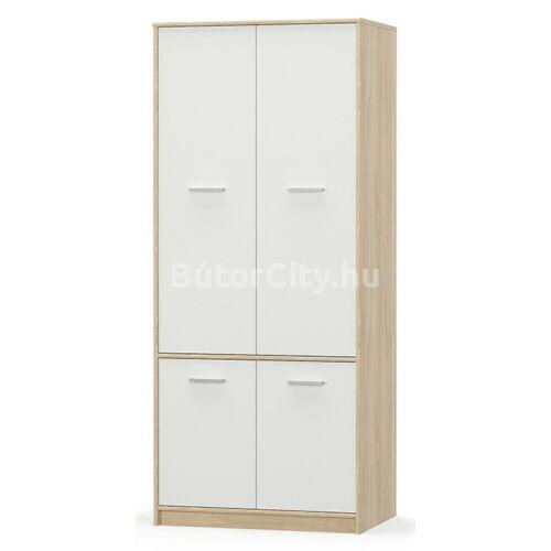 Teyo akasztós szekrény, sonoma tölgy - fehér (4D)