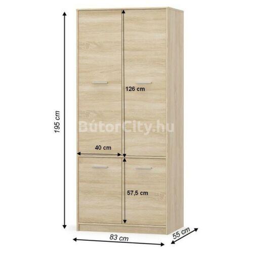 Teyo akasztós szekrény sonoma tölgy (4D)