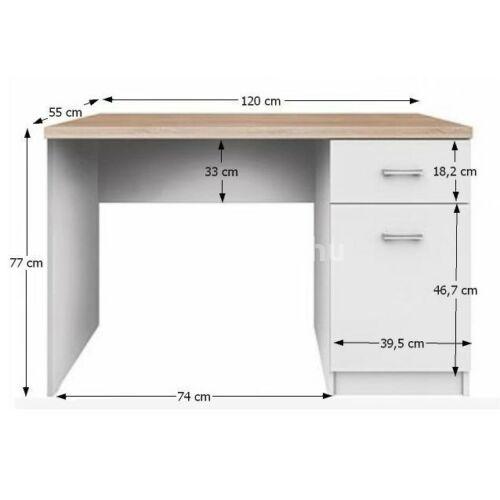 Topty íróasztal