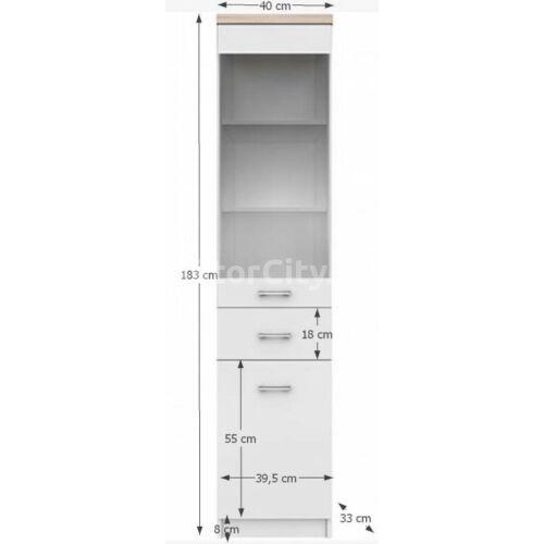 Topty vitrines szekrény (1D1W1S)