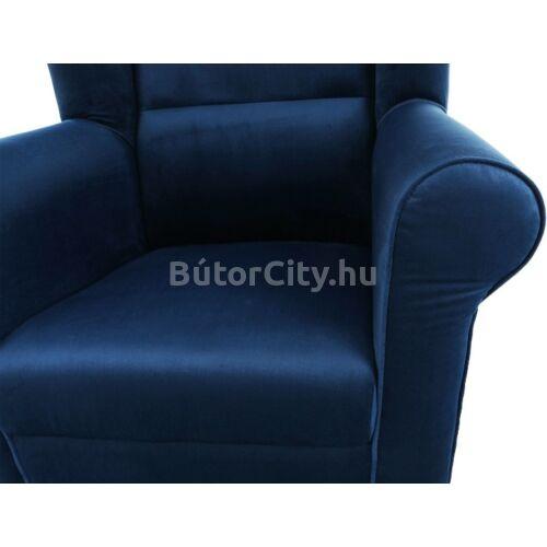 Astrid fotel puffal (Riviera kék)