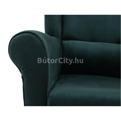 Charlot fotel sötétzöld szövettel