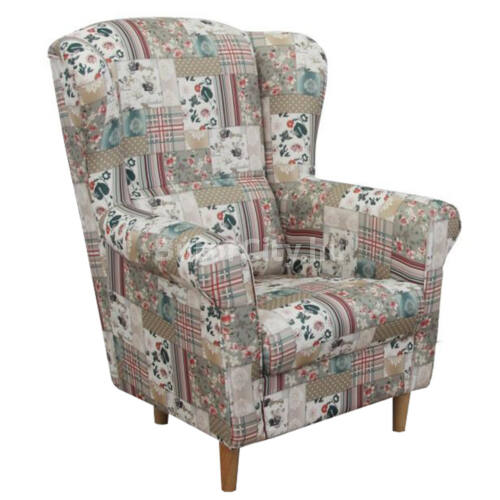 Charlot fotel patchwork viorica szövettel