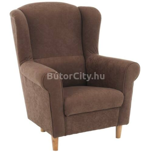 Charlot fotel alova barna szövettel