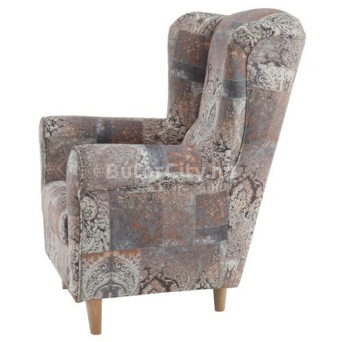 Charlot fotel vintage barna szövettel